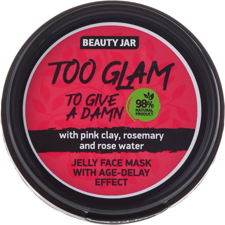 Maska-želé s liftingovým komplexom - Beauty Jar Too Glam To Give A Damn Face Mask