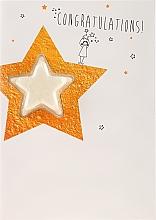 Voňavky, Parfémy, kozmetika Kúpeľová bomba - Bomb Cosmetics Congratulations Star Blastercard Bath Bomb Card Graduation Gift