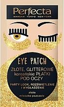 """Voňavky, Parfémy, kozmetika Vankúšiky pod oči """"Zlatý lesk"""" - Perfecta Gold Glitter Eye Patch"""