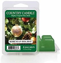 Voňavky, Parfémy, kozmetika Vosk na aromatickú lampu - Country Candle Bohemian Holiday Wax Melts