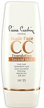 Voňavky, Parfémy, kozmetika CC krém - Pierre Cardin Nude Face CC Foundation Second Skin SPF 15