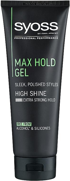 Gél na vlasy, maximálna fixácia - Syoss Max Hold — Obrázky N1