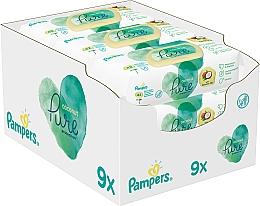 Voňavky, Parfémy, kozmetika Detské vlhčené utierky, 9x42 ks - Pampers Pure Coconut