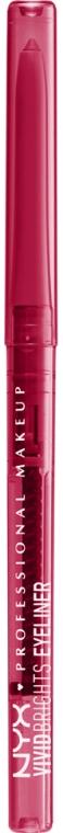 Automatická očná ceruzka - NYX Professional Makeup Vivid Brights Eyeliner Pride Edition