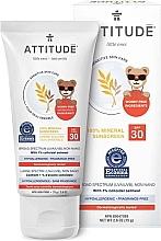 Voňavky, Parfémy, kozmetika Ochranný krém - Attitude Little Ones Sensitive Skin Sunscreen SPF 30