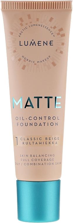 Matujúci tónovací základ - Lumene Matte Oil-control Foundation