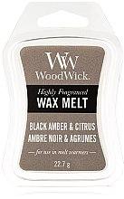Voňavky, Parfémy, kozmetika Voňavý vosk - WoodWick Wax Melt Black Amber & Citrus