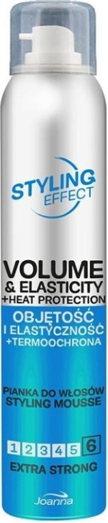 Mušt na dodanie objemu a elastickosti vlasom extra silnej fixácie - Joanna Styling Effect Styling Mousse Extra Strong