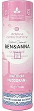 Voňavky, Parfémy, kozmetika Dezodorant Japonská sakura (kartón) - Ben&Anna Natural Natural Deodorant Sensitive Japanese Blossom