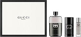 Voňavky, Parfémy, kozmetika Gucci Guilty Pour Homme - Sada (edt/90ml + deo/75ml + edt/15ml)