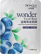 """Voňavky, Parfémy, kozmetika Látková maska na tvár """"Čučoriedka"""" - Bioaqua Wonder Facial Mask"""