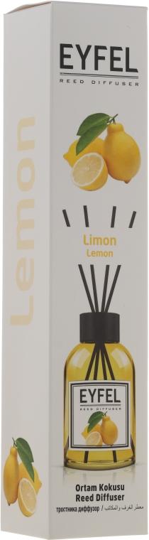 "Aromatický difúzor ""Citrón"" - Eyfel Perfume Reed Diffuser Lemon"