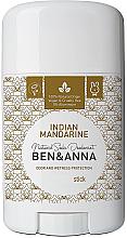 """Voňavky, Parfémy, kozmetika Dezodorant na báze sódy """"Indický mandarín"""" (plastický) - Ben & Anna Natural Soda Deodorant Indian Mandarine"""