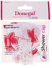 Voňavky, Parfémy, kozmetika Sprchová čiapka, 9298, bielo-červené kvety - Donegal
