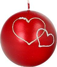 Voňavky, Parfémy, kozmetika Dekoratívna sviečka červená guľa, 8 cm - Artman Forever