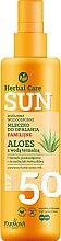 Voňavky, Parfémy, kozmetika Vodotesné mlieko na opaľovanie - Farmona Herbal Care Sun SPF 50