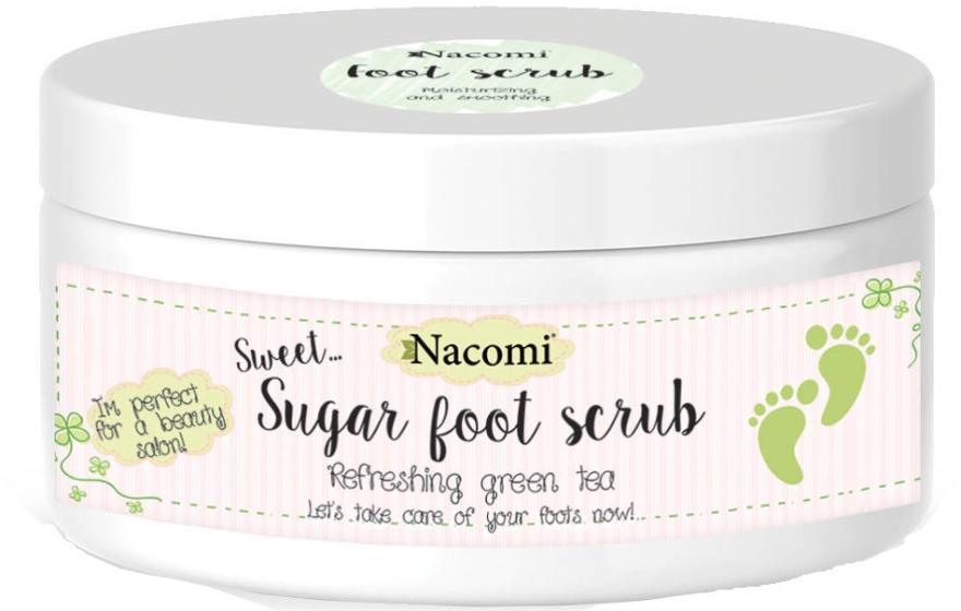 Cukorový peeling na nohy so zeleným čajom - Nacomi Sugar Foot Peeling