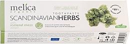 "Voňavky, Parfémy, kozmetika Zubná pasta ""Liečivé byliny Škandinávie"" - Melica Organic Toothpaste Scandinavian Herbs With Iceland Moss Extract"