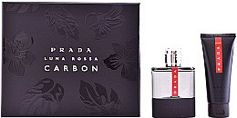 Voňavky, Parfémy, kozmetika Prada Luna Rossa Carbon - Sada (edt/100ml + ash/balm/100ml)