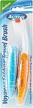 Voňavky, Parfémy, kozmetika Zubná kefka, na cestovanie, oranžová - Beauty Formulas Voyager Active Folding Dustproof Travel Toothbrush Medium