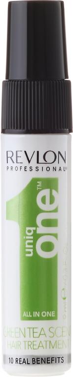 Sprejová maska pre starostlivosť o vlasy s vôňou zeleného čaju - Revlon Professional Uniq One Green Tea Scent Treatment (vzorka) — Obrázky N1