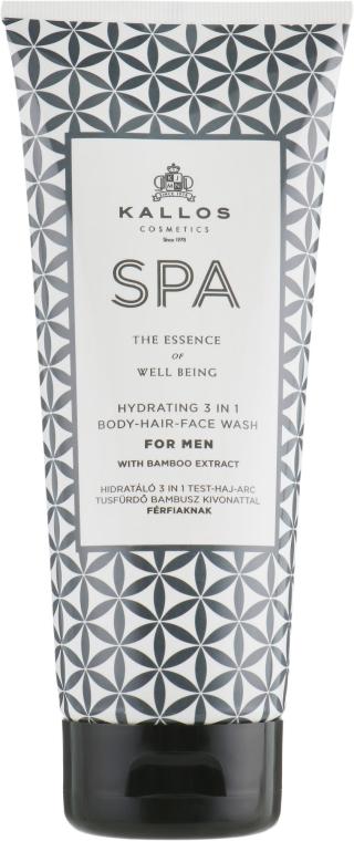 Pánsky šampón-sprchový gél 3v1 - Kallos Cosmetics Spa Hydrating 3in1 Body-Hair-Face Wash For Men