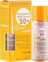 Voňavky, Parfémy, kozmetika Opaľovací krém - Bioderma Photoderm Nude Touch Golden Color Spf 50+