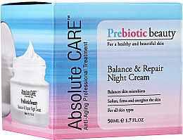 Voňavky, Parfémy, kozmetika Vyvažujúci a revitalizačný nočný pleťový krém - Absolute Care Prebiotic Beauty Balance&Repair Night Cream