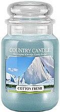 Voňavky, Parfémy, kozmetika Vonná sviečka v pohári - Country Candle Cotton Fresh