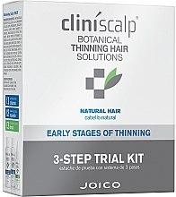 Voňavky, Parfémy, kozmetika Systém pre riedke prírodné vlasy - Joico Cliniscalp 3-step Trial Kit For Natural Hair Early Stages (shmp/100ml + cond/100ml + treat/50ml)
