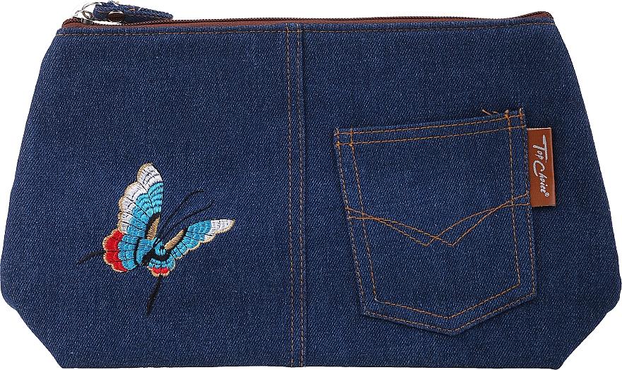 """Kozmetická taška """"Motifs"""", 94767, tmavomodrá s motýlikom - Top Choice — Obrázky N1"""