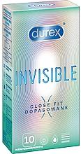 Voňavky, Parfémy, kozmetika Tesné priliehajúce kondómy, 10 ks - Durex Invisible Close Fit
