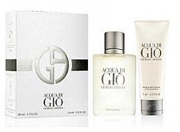 Voňavky, Parfémy, kozmetika Giorgio Armani Acqua di Gio Pour Homme - Sada (edt/50ml + a/sh/balm/75ml)