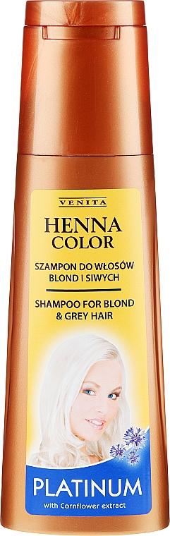 Šampón na vlasy - Venita Henna Color Platinum Shampoo