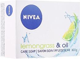 """Voňavky, Parfémy, kozmetika Krém-mydlo """"Lemongrass a olej"""" - Nivea Lemongrass & oil crème soap"""