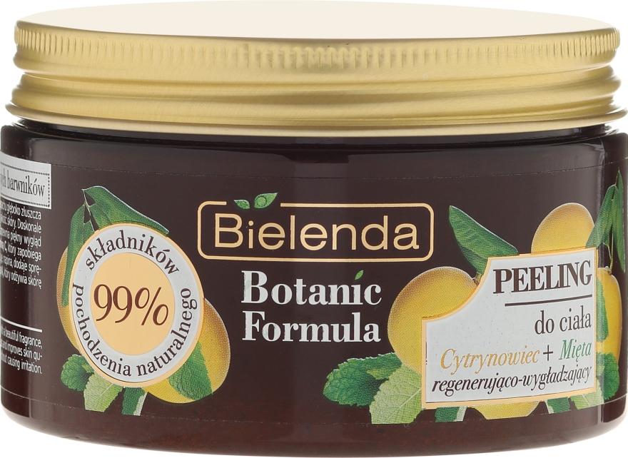 """Telový peeling """"Citrón a mäta"""" - Bielenda Botanic Formula Lemon Tree Extract + Mint Body Scrub"""