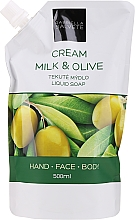 "Voňavky, Parfémy, kozmetika Tekuté mydlo ""Mlieko a olivy"" - Gabriella Salvete Milk & Olive Liquid Soap (doy pack)"