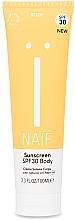 Voňavky, Parfémy, kozmetika Opaľovací krém na telo - Naif Sunscreen Body Spf30