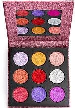 Voňavky, Parfémy, kozmetika Paleta gliterov - Makeup Revolution Pressed Glitter Palette Diva