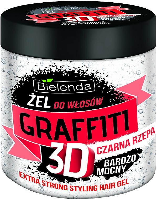Gél na vlasy s čiernou repou - Bielenda GRAFFITI 3D Extra Strong Stayling Hair Gel