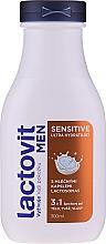 Voňavky, Parfémy, kozmetika Pánsky sprchový gél 3 v 1 - Lactovit Men Sensitive 3v1 Shower Gel