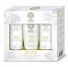 Voňavky, Parfémy, kozmetika Sada - Natura Siberica White Cedar Hair Care Kit (shm/250ml + balm/250ml + mask/200ml)