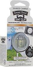 Voňavky, Parfémy, kozmetika Tekutá vôňa Vôňa do auta - Yankee Candle Smart Scent Vent Clip Clean Cotton