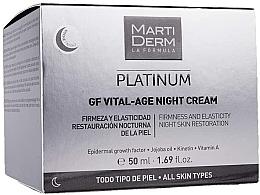 Voňavky, Parfémy, kozmetika Nočný krém na tvár - MartiDerm Platinum Gf Vital Age Night Cream