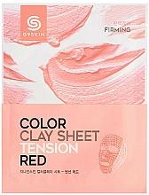 Voňavky, Parfémy, kozmetika Hlinená listová maska na tvár - G9Skin Color Clay Sheet Tension Red