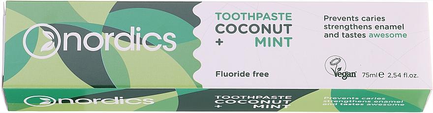 "Zubná pasta ""Kokos a mäta"" - Nordics Coconut + Mint Toothpaste"