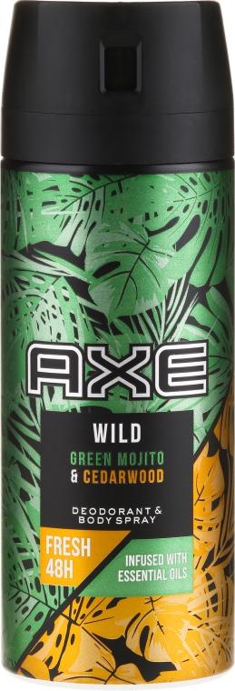Antiperspirantový sprej - Axe Wild Green Mojito & Cedarwood
