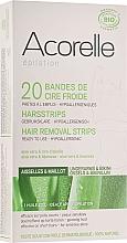 Voňavky, Parfémy, kozmetika Voskové depilačné pásiky na oblasti bikín, aloe a materská kašička - Acorelle Wax Strips