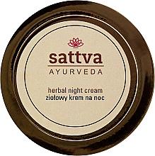 Voňavky, Parfémy, kozmetika Nočný krém s bylinkami - Sattva Ayurveda Herbal Night Cream