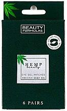 Voňavky, Parfémy, kozmetika Gélové náplasti pod oči - Beauty Formulas Hemp Beauty Eye Gel Patches